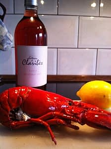 lobster and rosé